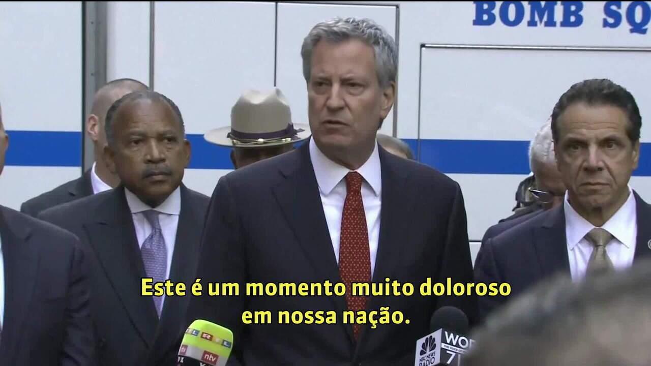 'É um momento muito doloroso em nossa nação', diz prefeito de Nova York