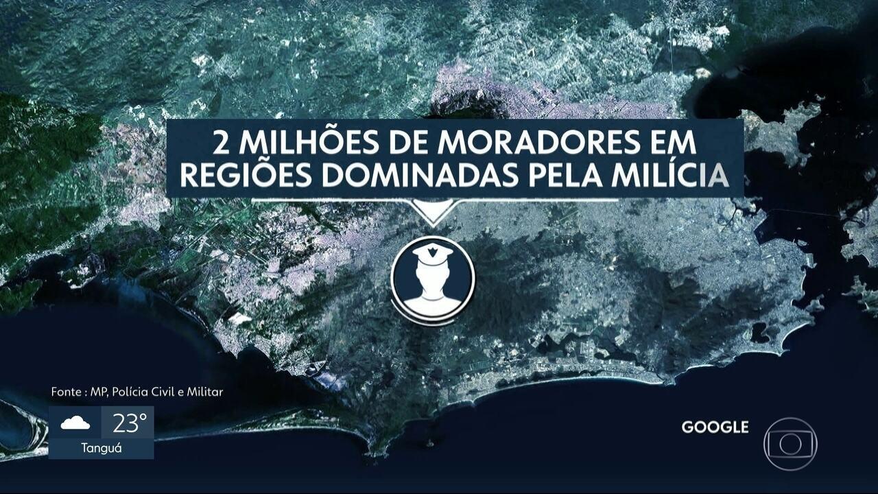 A ação das milícias não se restringe à zona oeste do Rio