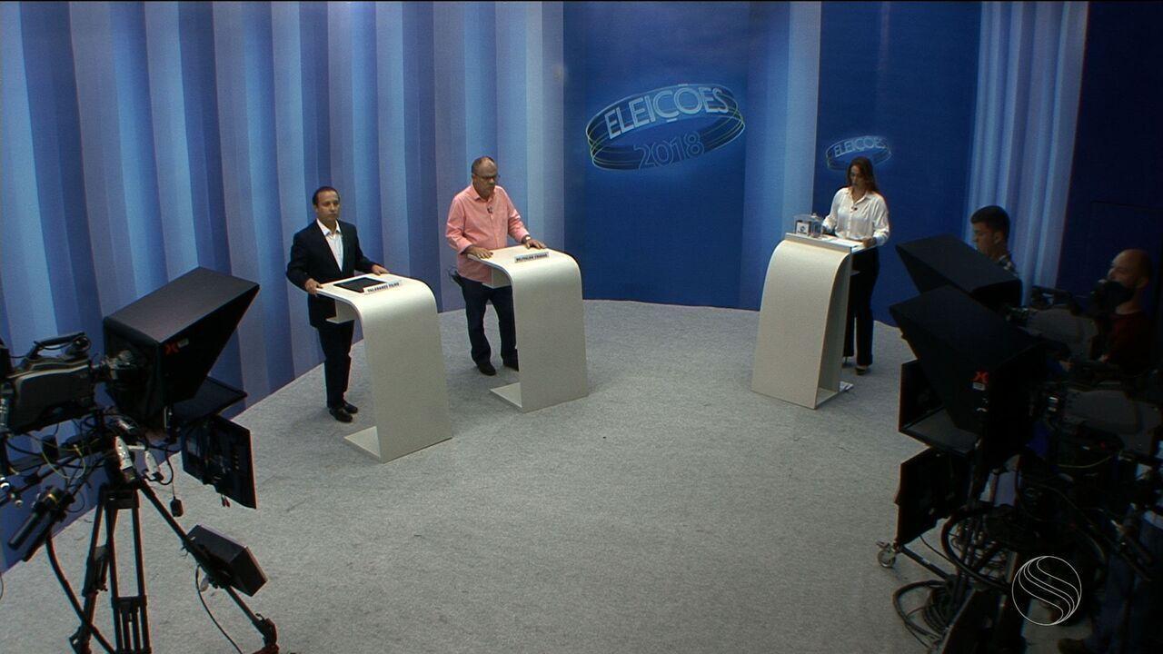 Confira o quarto bloco do debate do 2º turno para o governo de Sergipe