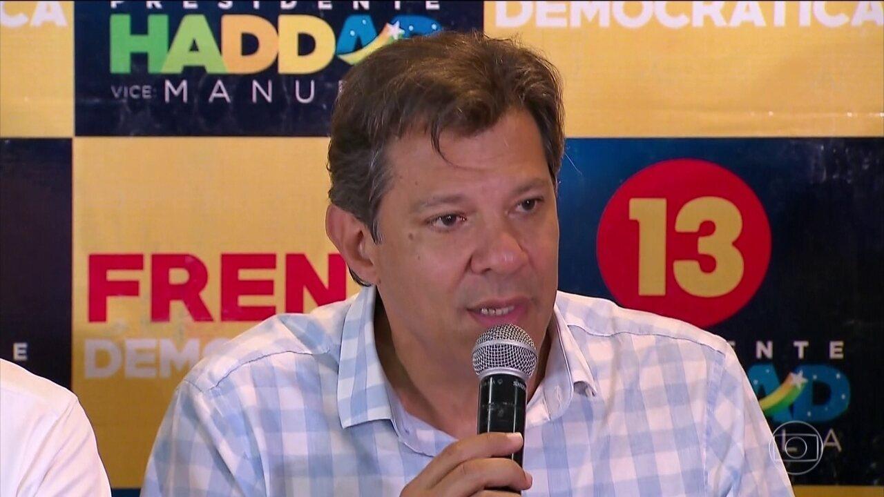 Fernando Haddad, do PT, cumpriu nesta sexta-feira (26) agenda de campanha em João Pessoa