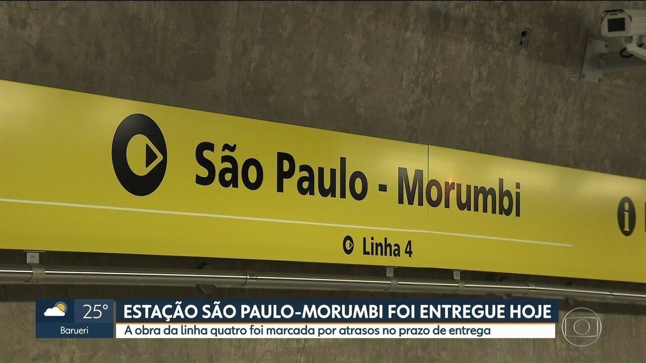 Inaugurada neste sábado (27) nova estação do metrô da Capital