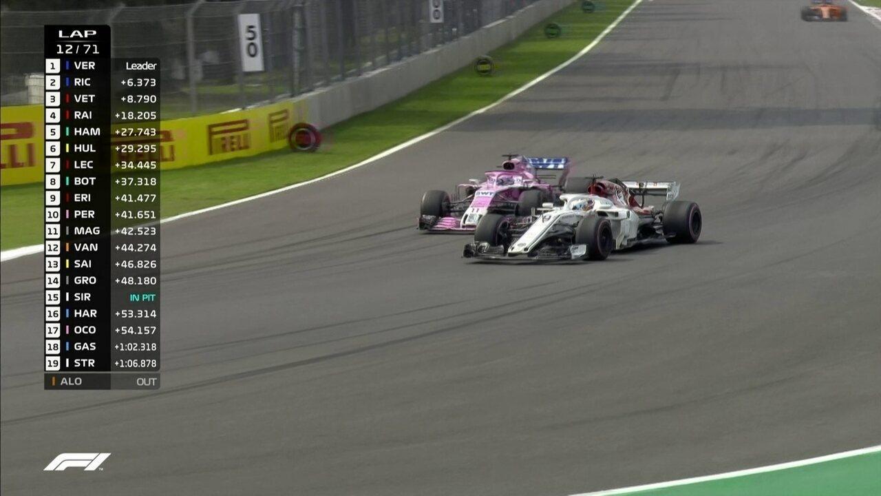 Ericsson e Perez disputam colocação e público vibra
