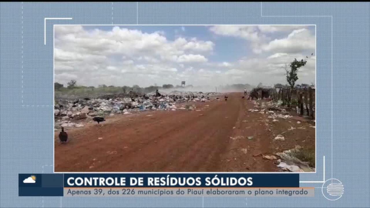 Apenas 39 de 224 municípios do Piauí tem plano de controle de resíduos sólidos