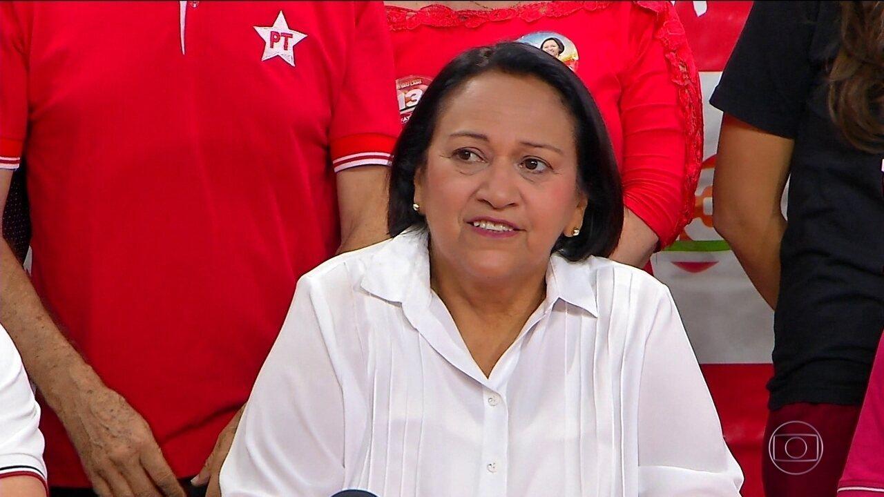 A senadora Fátima Bezerra, do PT, teve a maior votação para o governo de RN
