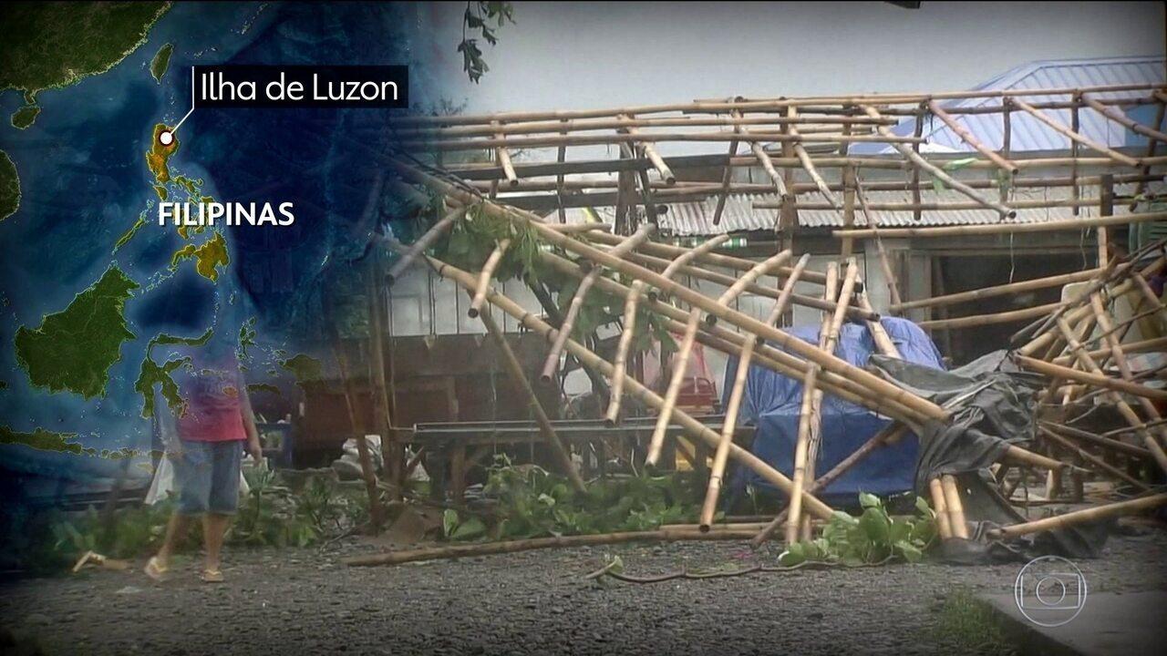 Vinte e três pessoas estão presas em um prédio soterrado nas Filipinas
