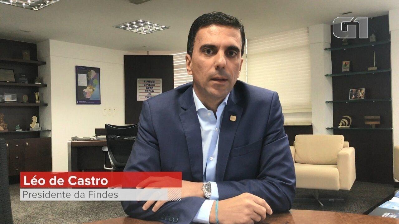 Léo de Castro, presidente da Findes fala dos impactos da paralisação da Samarco
