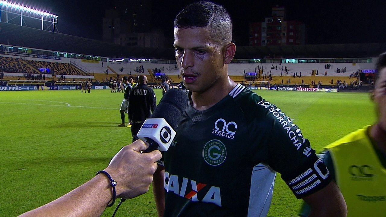 Lucão analisa empate com gosto de derrota para o Goiás: