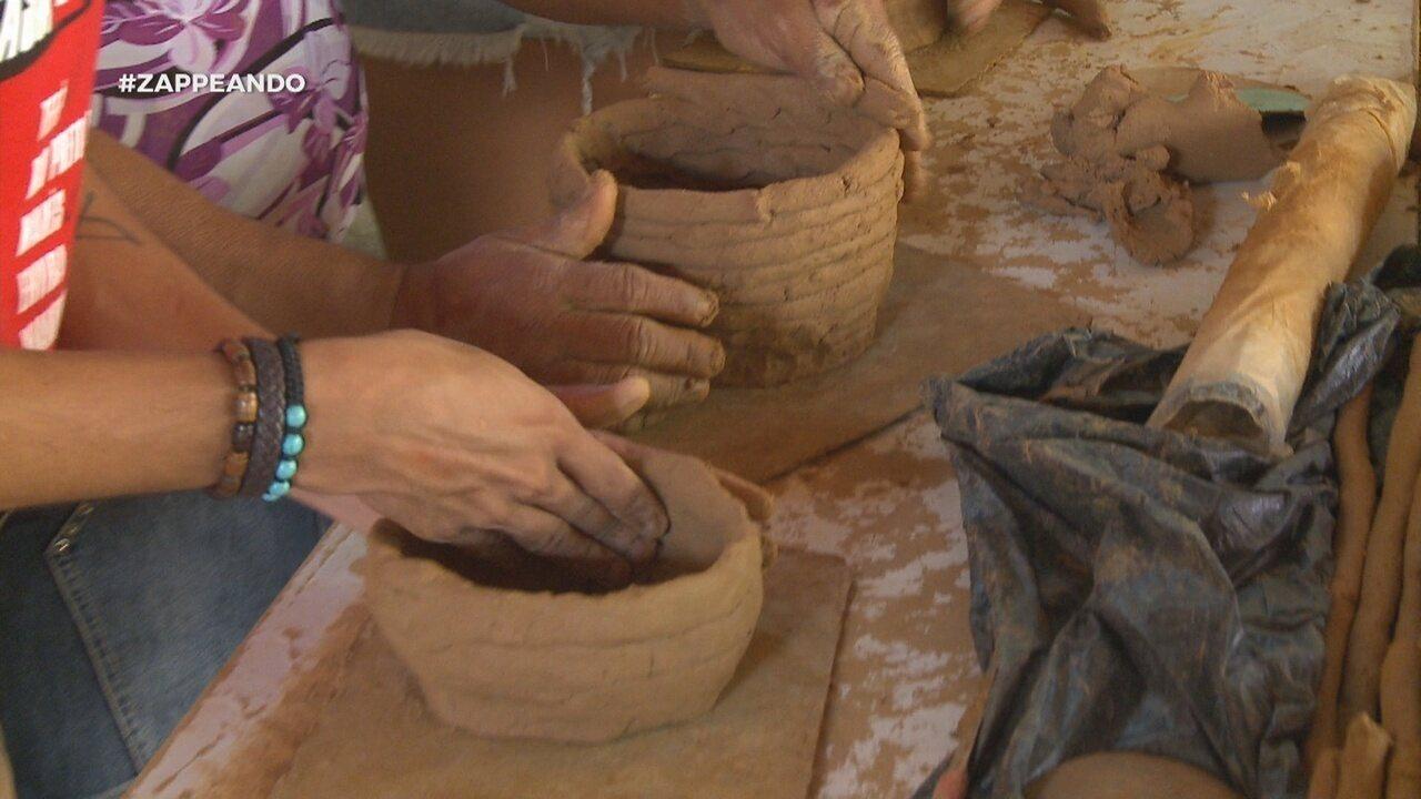 Parte 2: Dupla aprende a fazer panela de barro