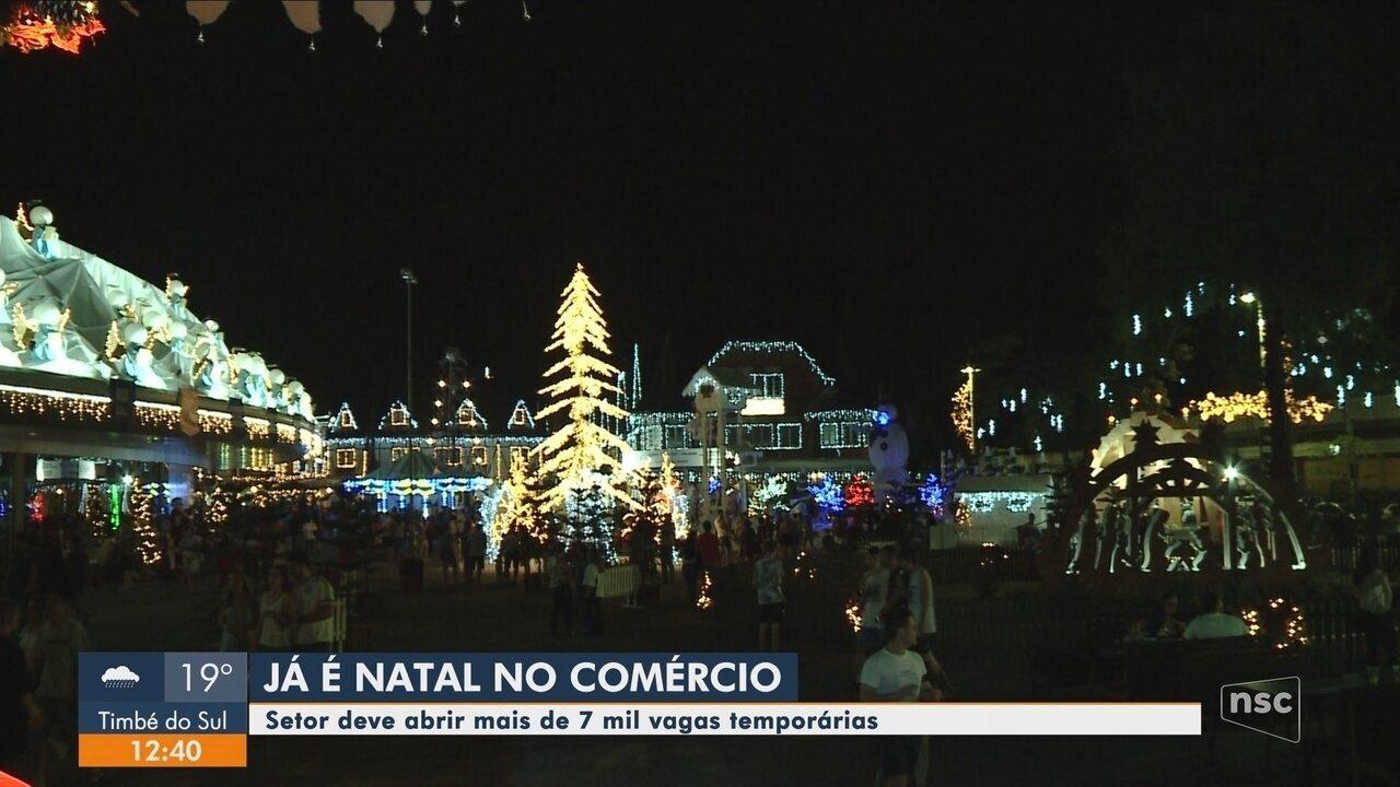 Comércio deve abrir mais de 7 mil vagas temporárias para o Natal