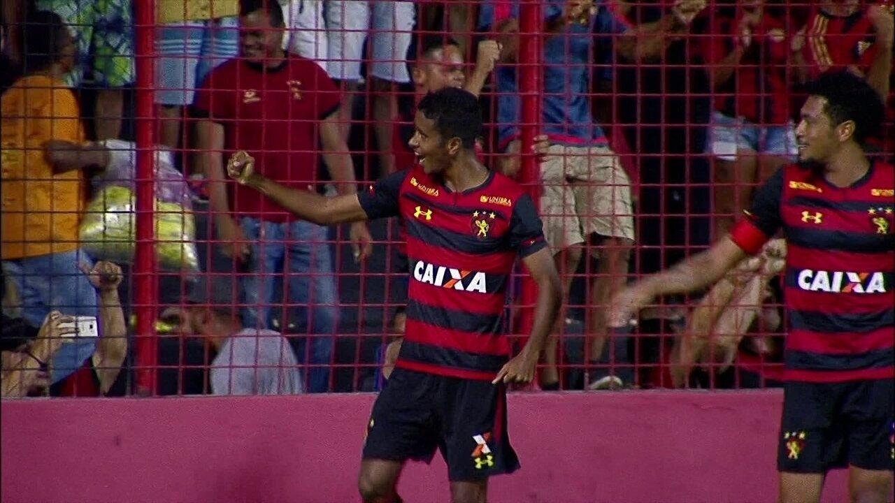 O gol de Sport 1 x 0 Ceará pela 32ª rodada do Brasileirão