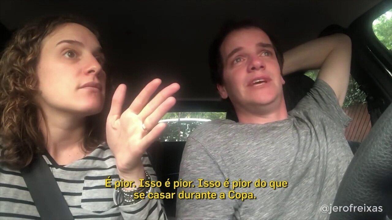 Casal argentino que viralizou na Copa tem novo vídeo para Boca x River