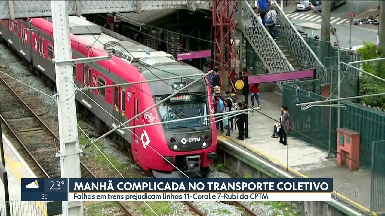 Falhas em linhas da CPTM prejudicam passageiros das linhas 7 e 11
