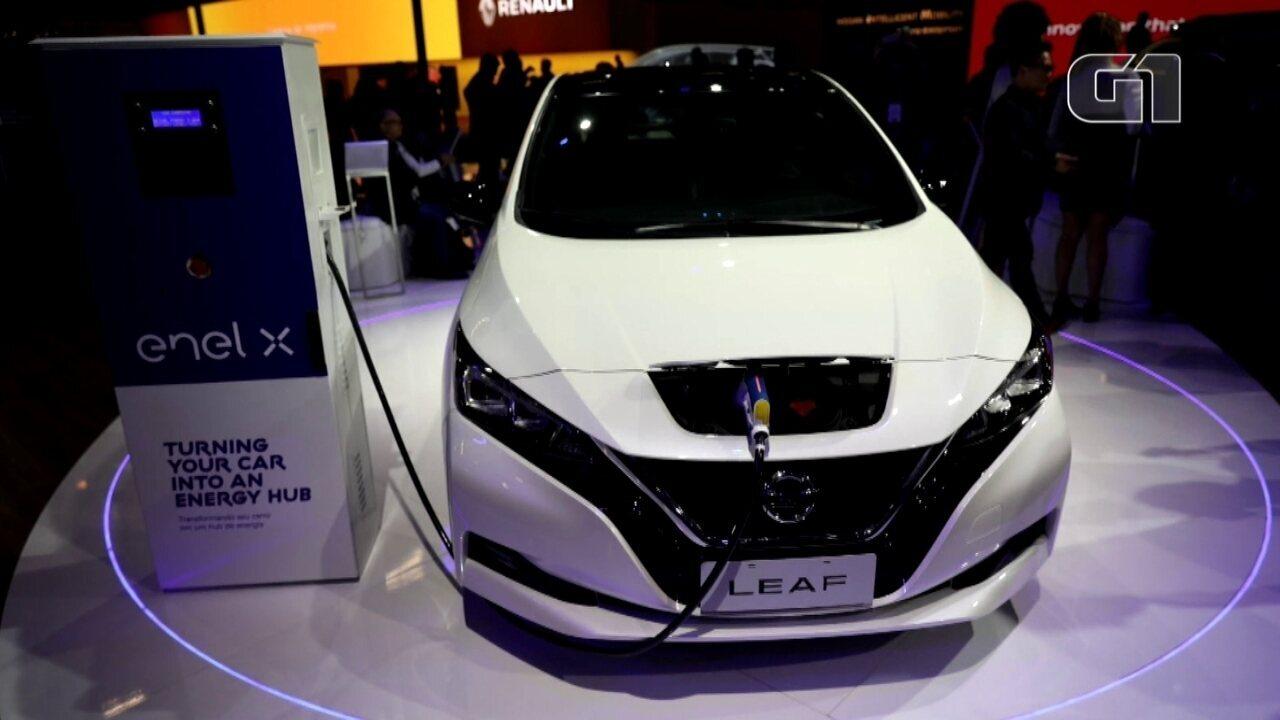 Salão do Automóvel 2018: Nissan mostra seu elétrico Leaf