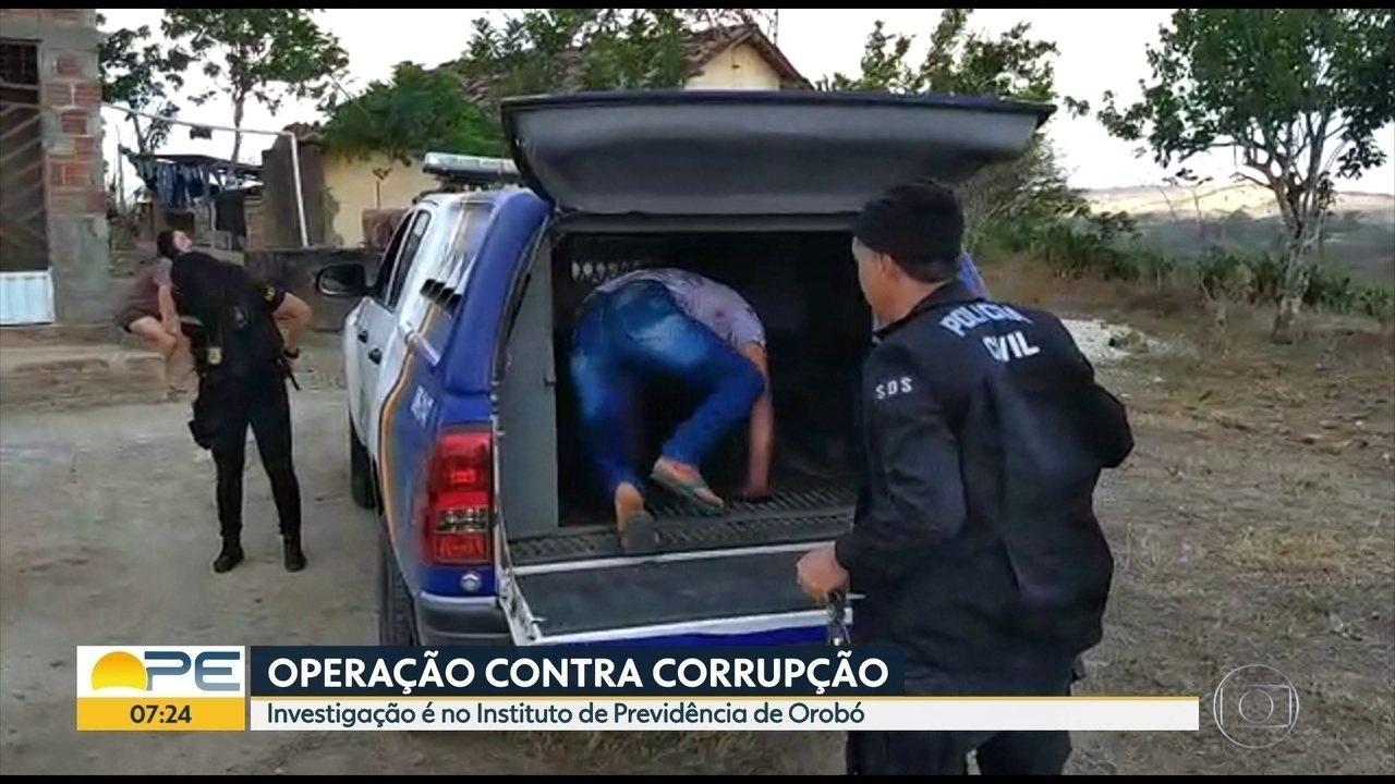 Polícia faz operação de combate a fraude no Instituto de Previdência de Orobó, no Agreste