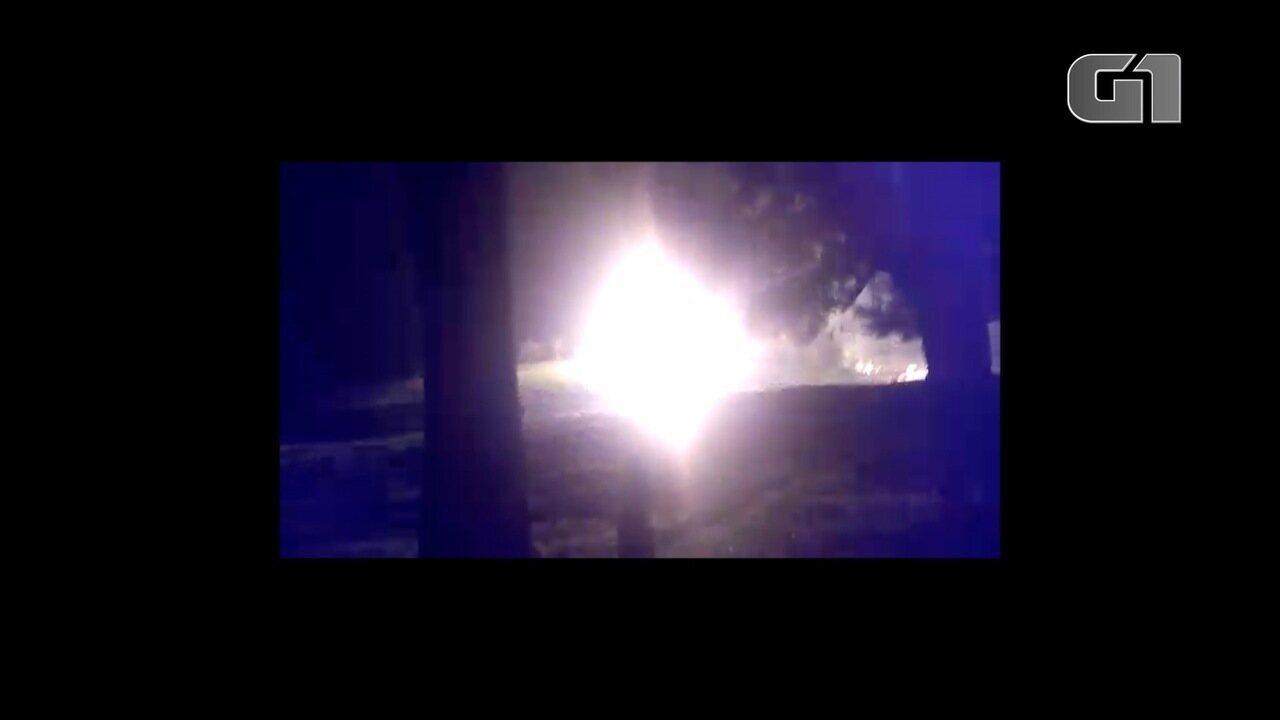 Caminhão explode na zona rural de Taubaté