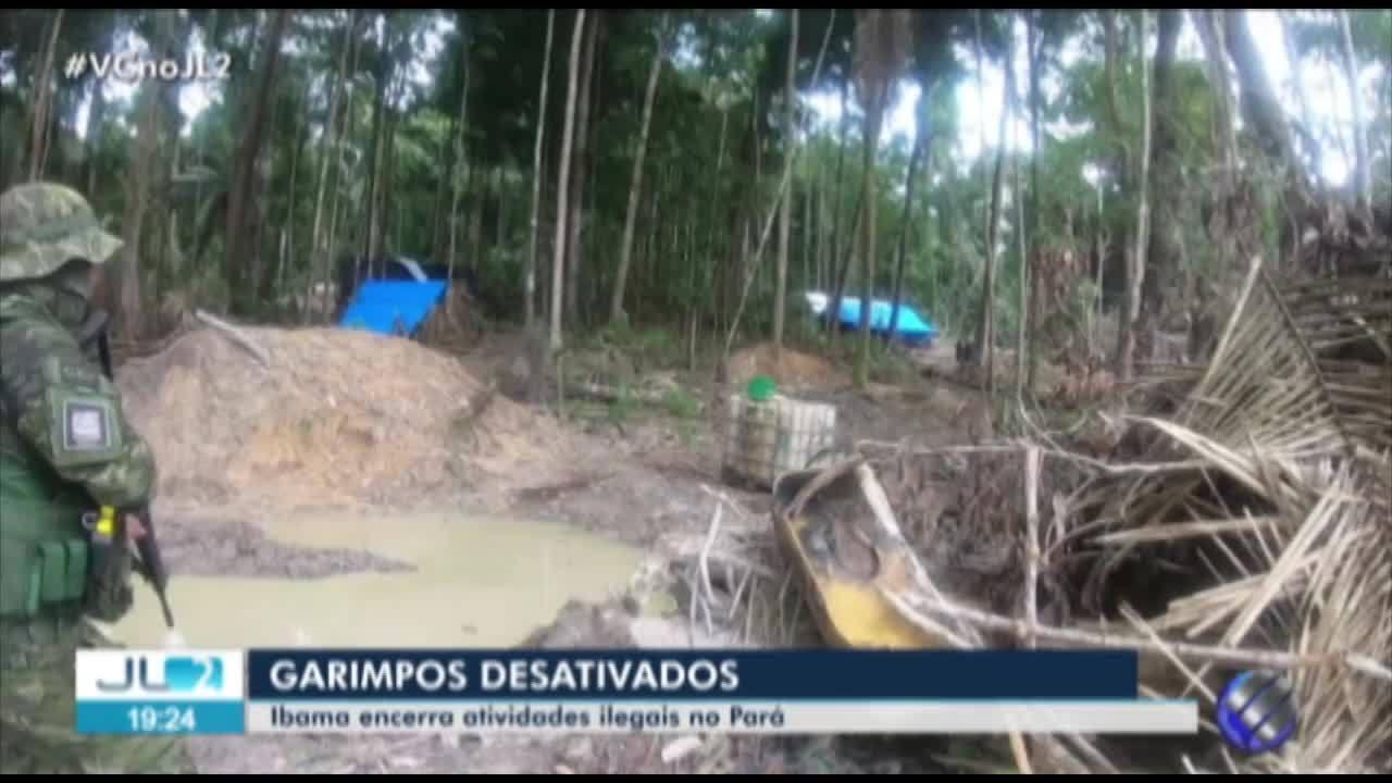 Operação do Ibama desativa garimpos ilegais de ouro e cassiterita no Pará