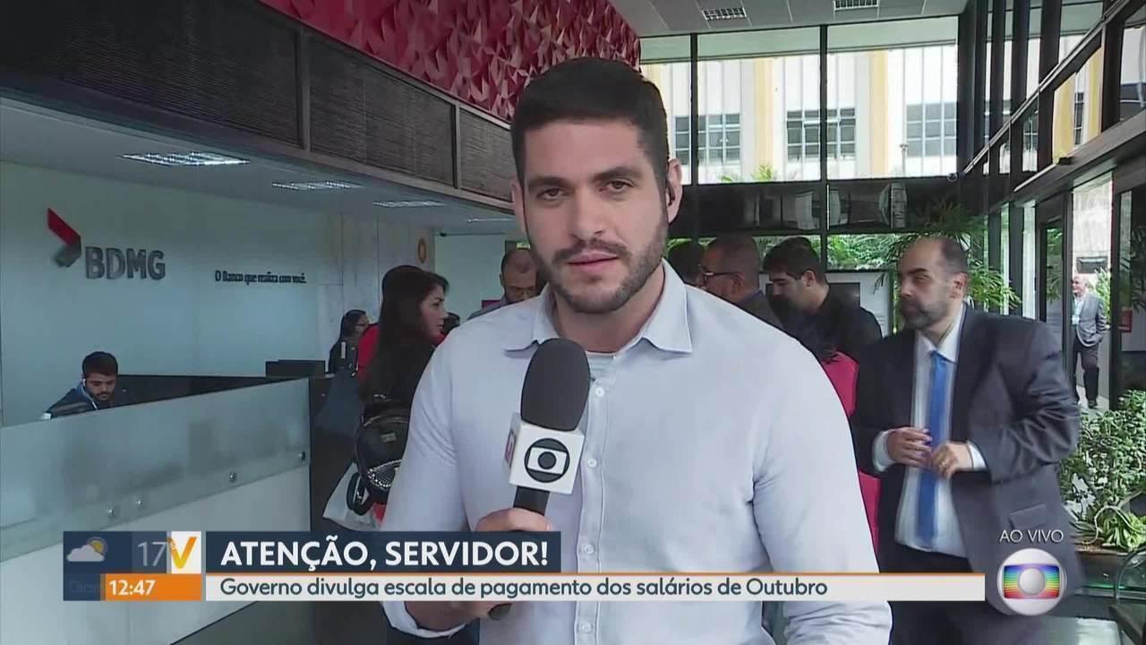 Governo de Minas divulga escala de pagamento do salário de outubro