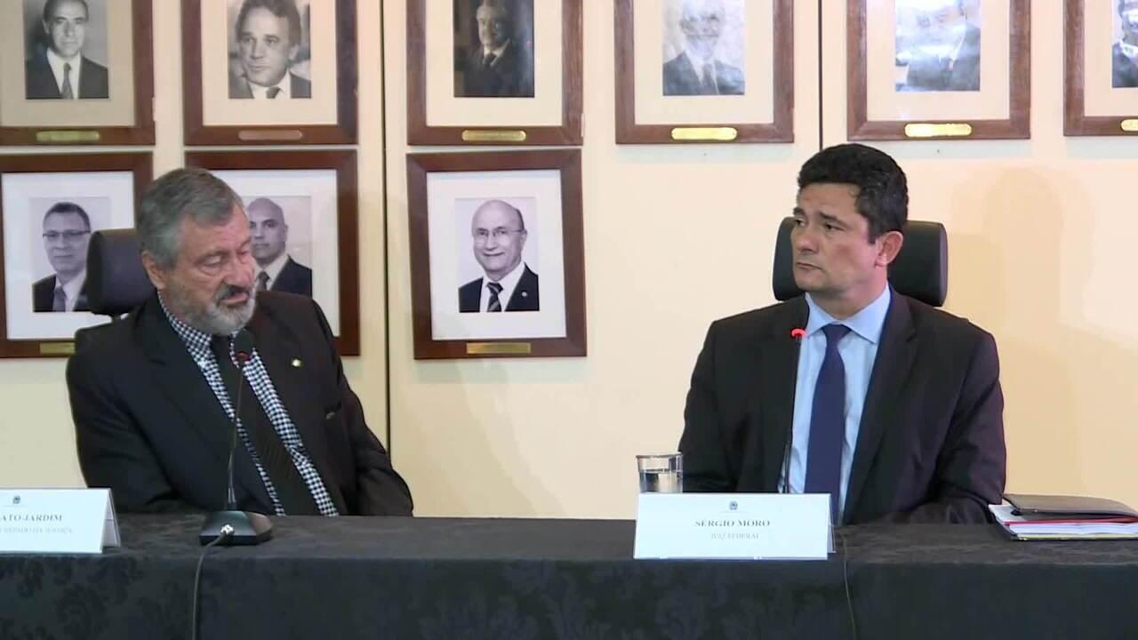 Sérgio Moro e Torquato Jardim falam sobre transição