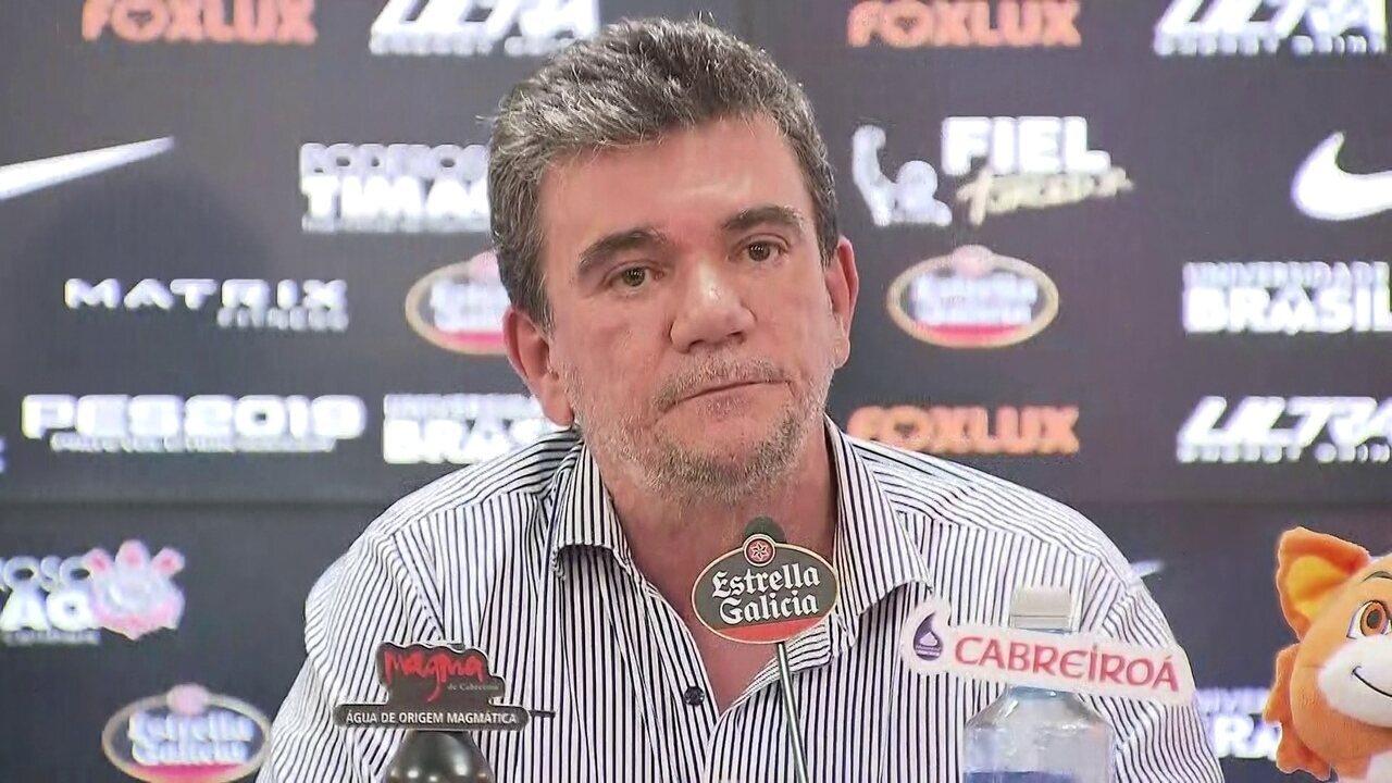 Andres Sanchez fala sobre o futuro de Pedrinho e Romero no Corinthians
