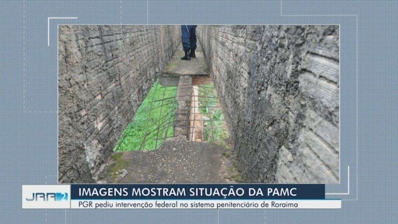Imagens mostram péssimas condições da Penitenciária Agrícola de Roraima