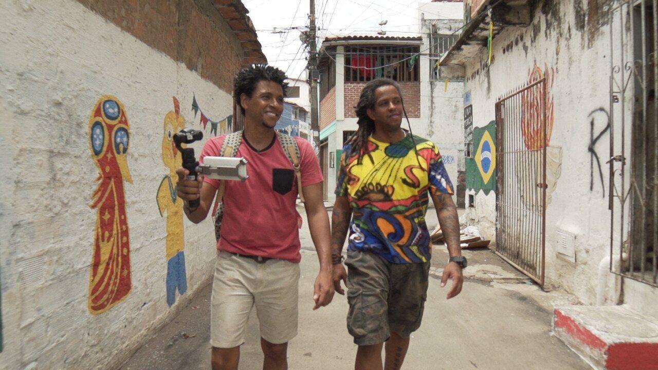 Aldri desbrava o bairro de Pituaçu com Rubão, e conhece Beto Rasta e Gilberto Silva