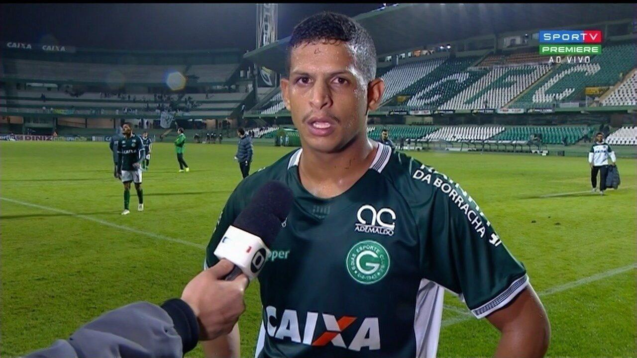 Lucão lamenta derrota do Goiás e suspensão no próximo jogo