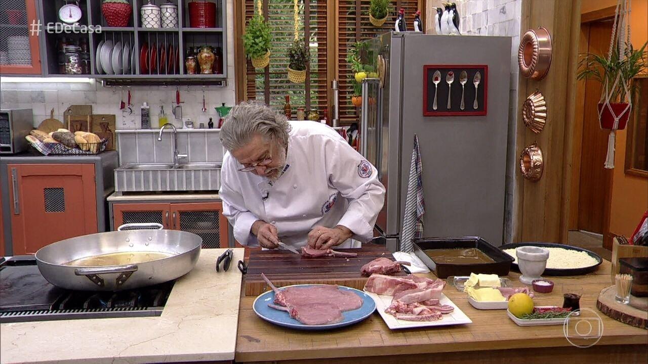 4a2681abd Bisteca de Porco à Milanesa do Chef Roberto Ravioli | Receitas Gshow ...