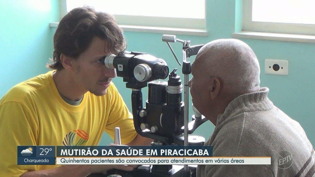 Mutirão da Saúde reúne 500 pacientes para atendimentos em várias áreas em Piracicaba