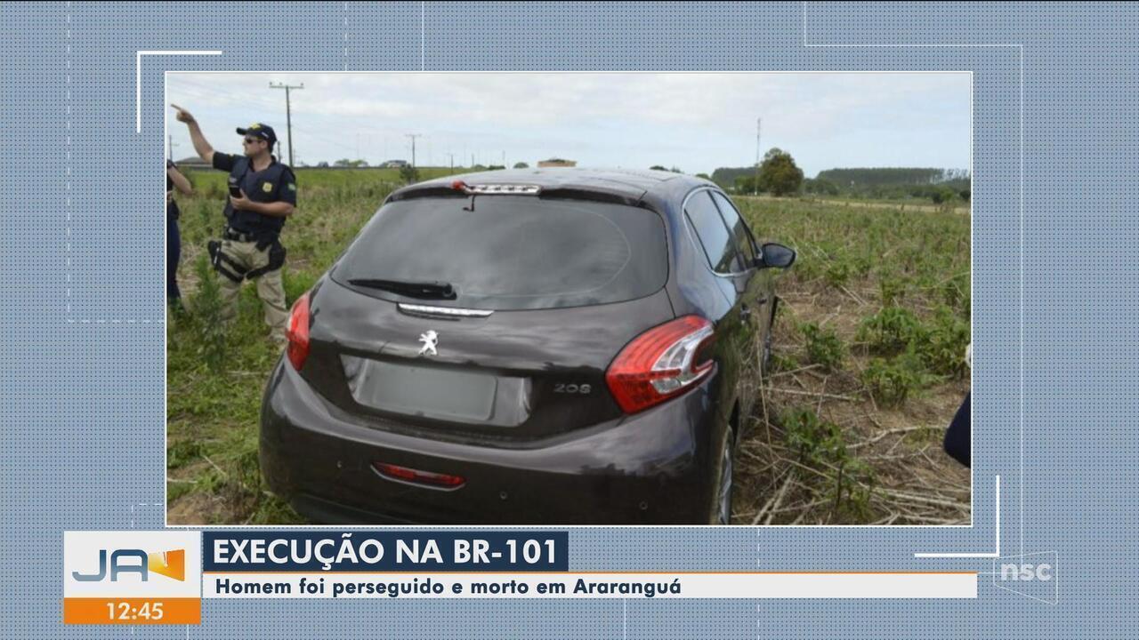 Após perseguição, homem é morto a tiros na BR-101 em Araranguá