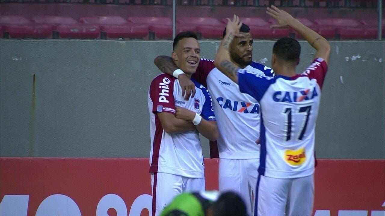O gol de América-MG 0 x 1 Paraná pela 33ª rodada do Campeonato Brasileiro