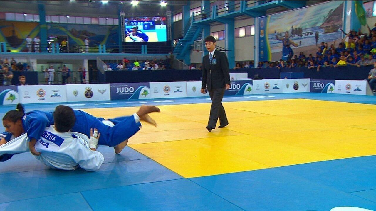 Maria Suelen aplica golpe perfeito e conquista o ouro no +78kg do Mundial Militar de judô