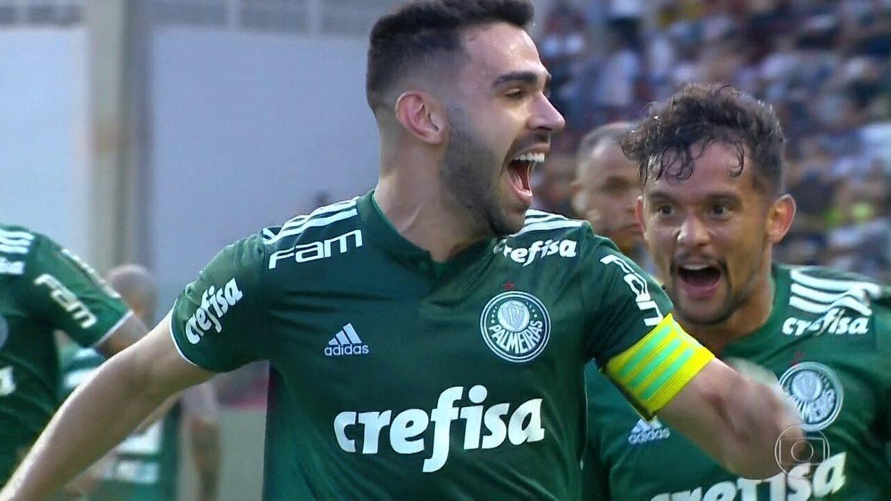 Gols do Fantástico: Palmeiras empata e segue líder do Brasileirão com 5 pontos de vantagem