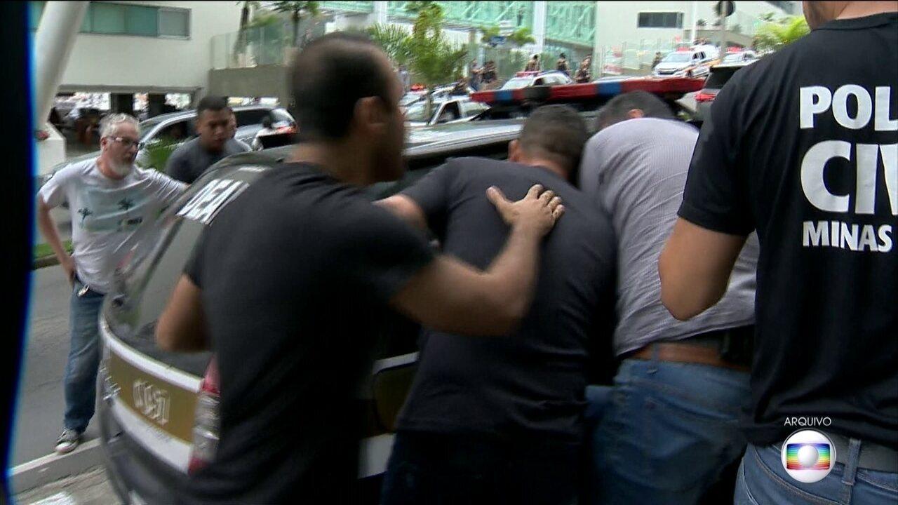Presos policiais civis de Minas Gerais que participaram de tiroteio com policiais de SP