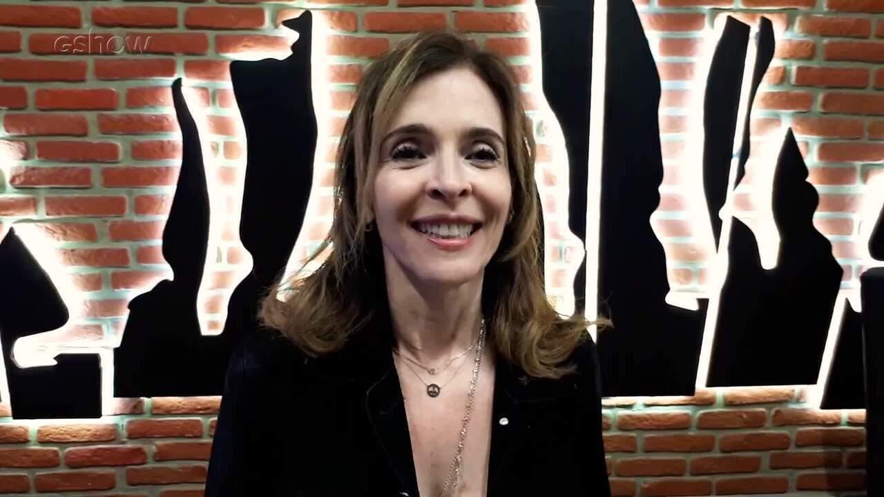 Deborah Evelyn visita a casa do Dança dos Famosos