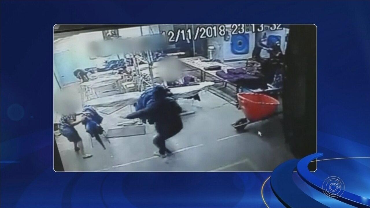Vídeo mostra ação de quadrilha que roubou mais de 30 mil peças de lavanderia