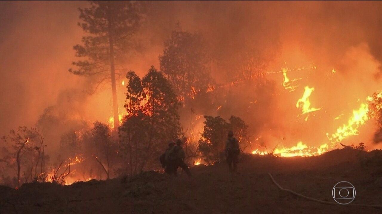 Califórnia tem apenas um terço dos focos de incêndio controlados
