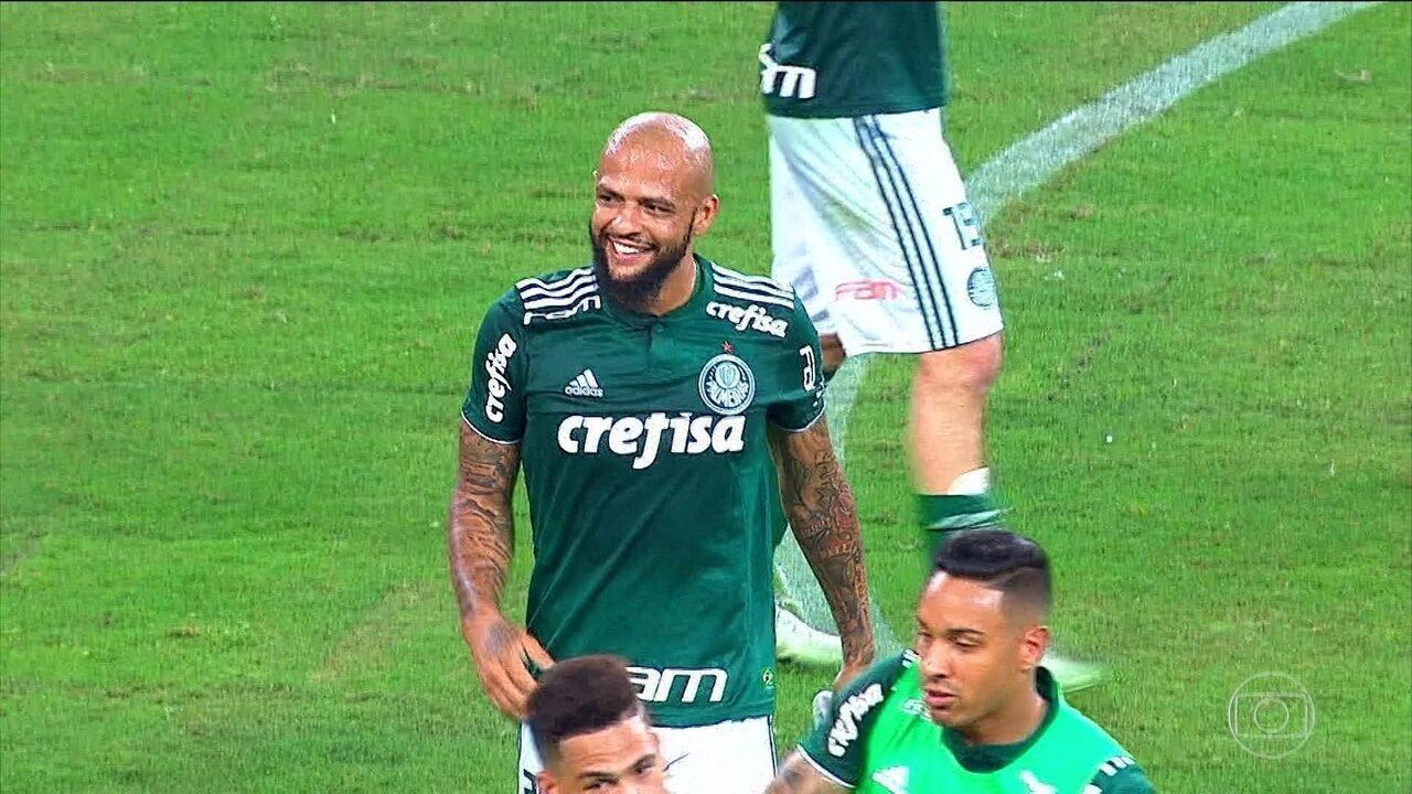 Palmeiras vence o Fluminense em casa; veja os gols de quarta-feira no Jornal da Globo