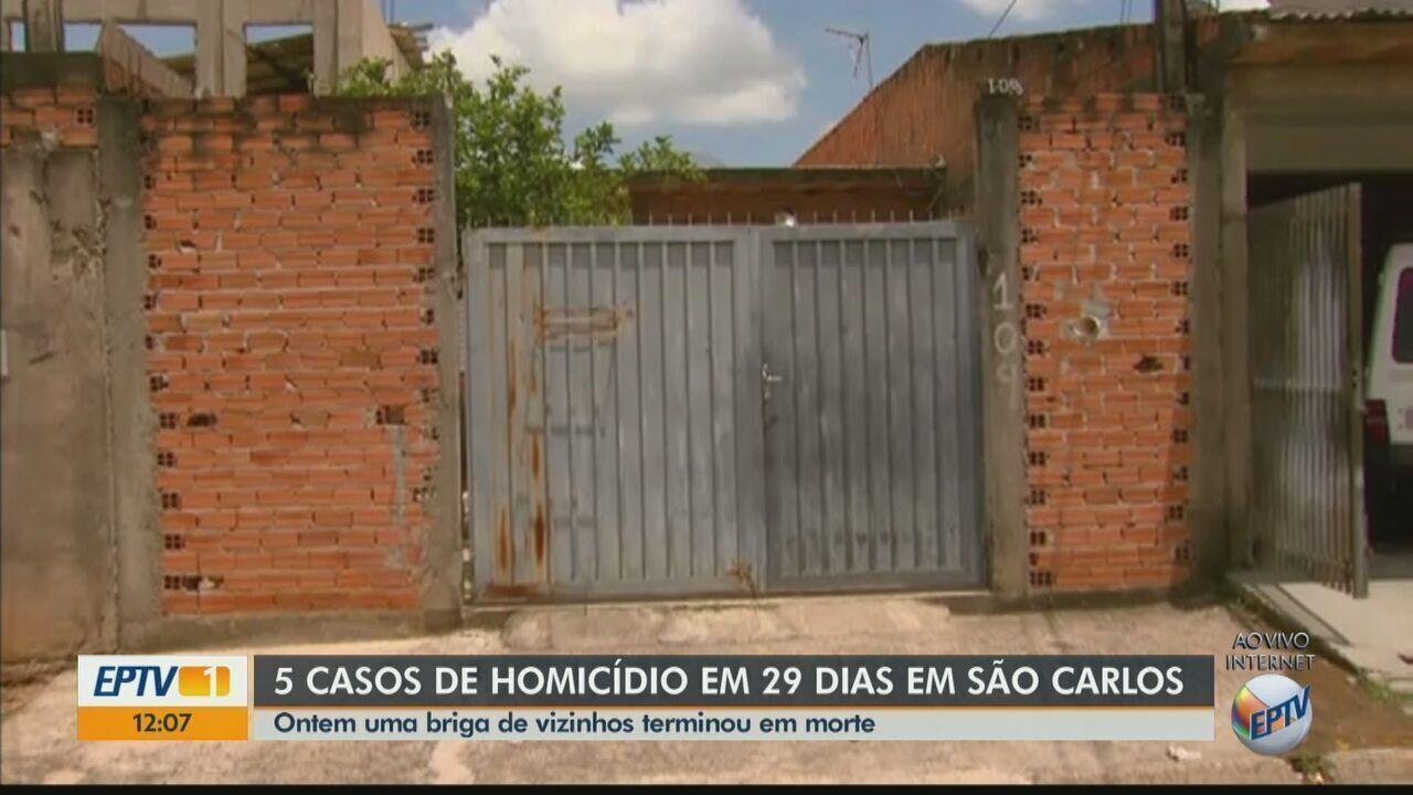 São Carlos registra 5 homicídios em 29 dias