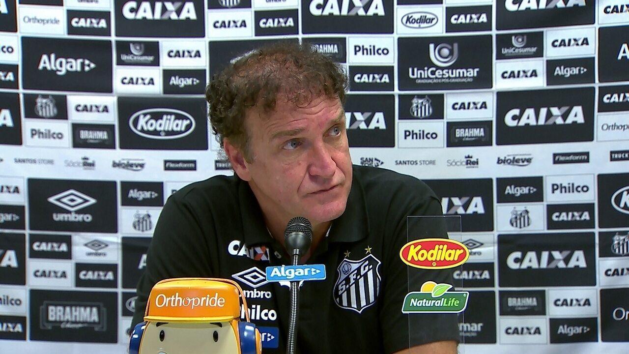 Entrevista coletiva de Cuca, técnico do Santos, após a derrota para o Flamengo
