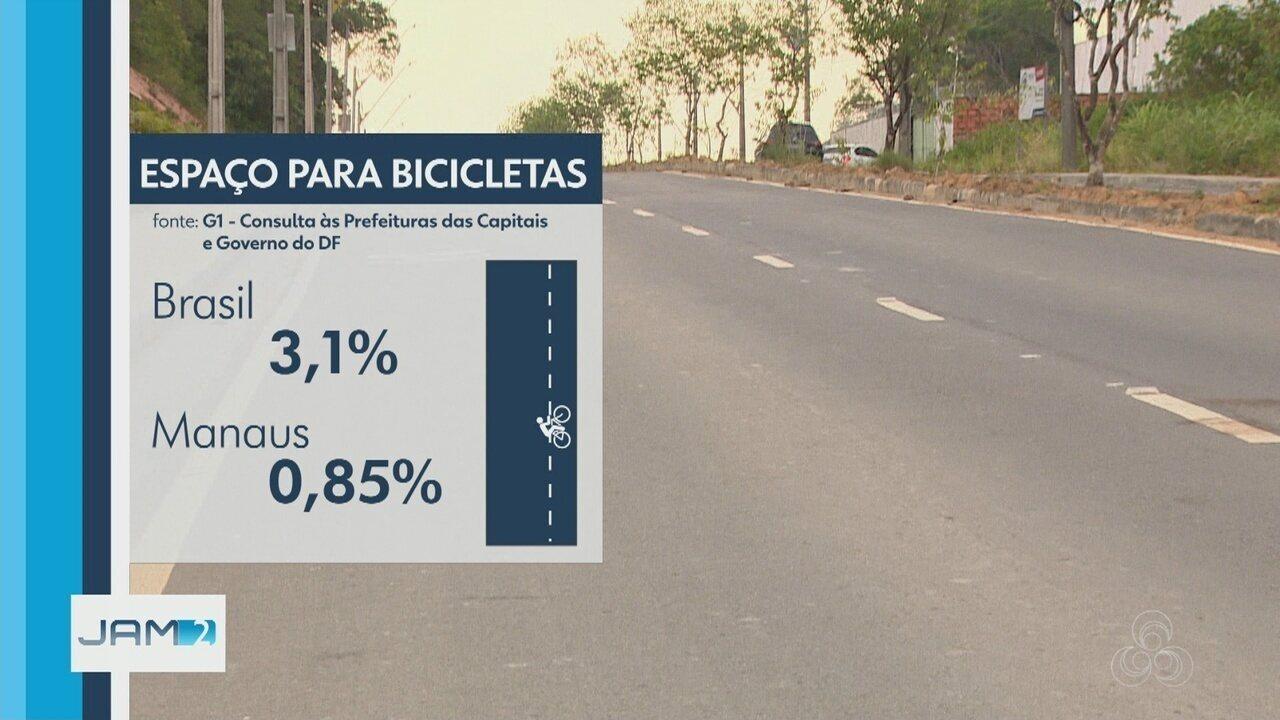 Manaus é pior capital do país para usuários de bicicletas