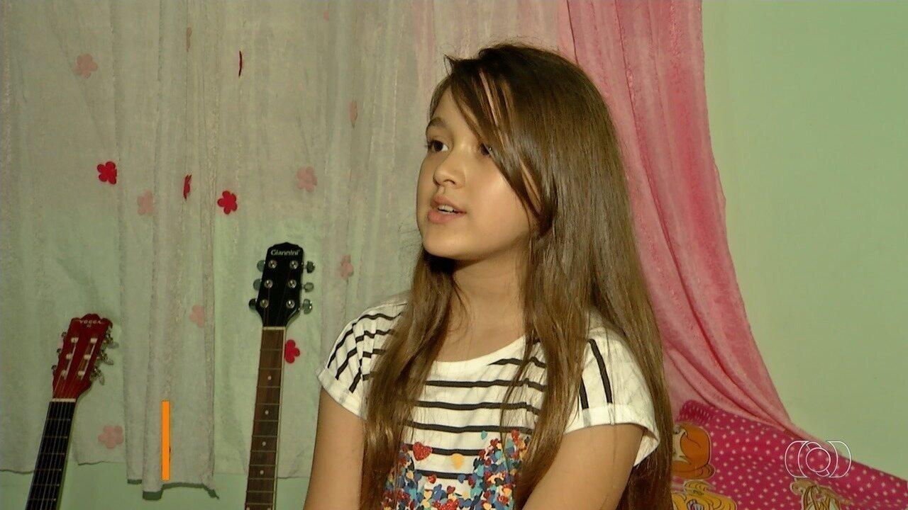 Conheça Nathália Martins, semifinalistas do concurso Novos Talentos da Música Kids