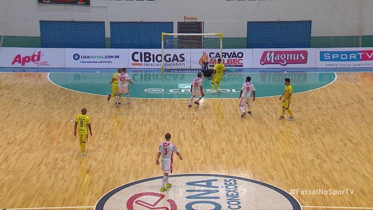Os gols de Marechal Rondon 1 x 1 Atlântico Erechim pela Liga Nacional de Futsal