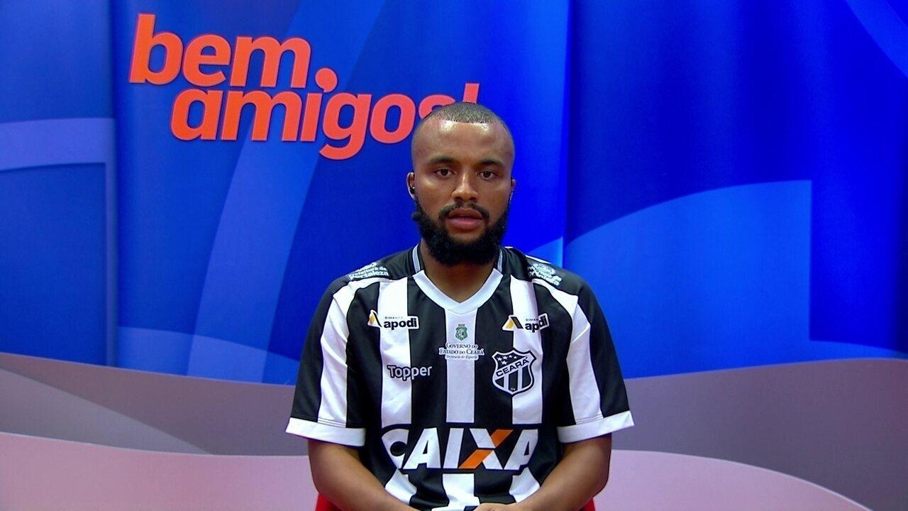 Samuel Xavier, lateral do Ceará, fala sobre a torcida do Vozão:
