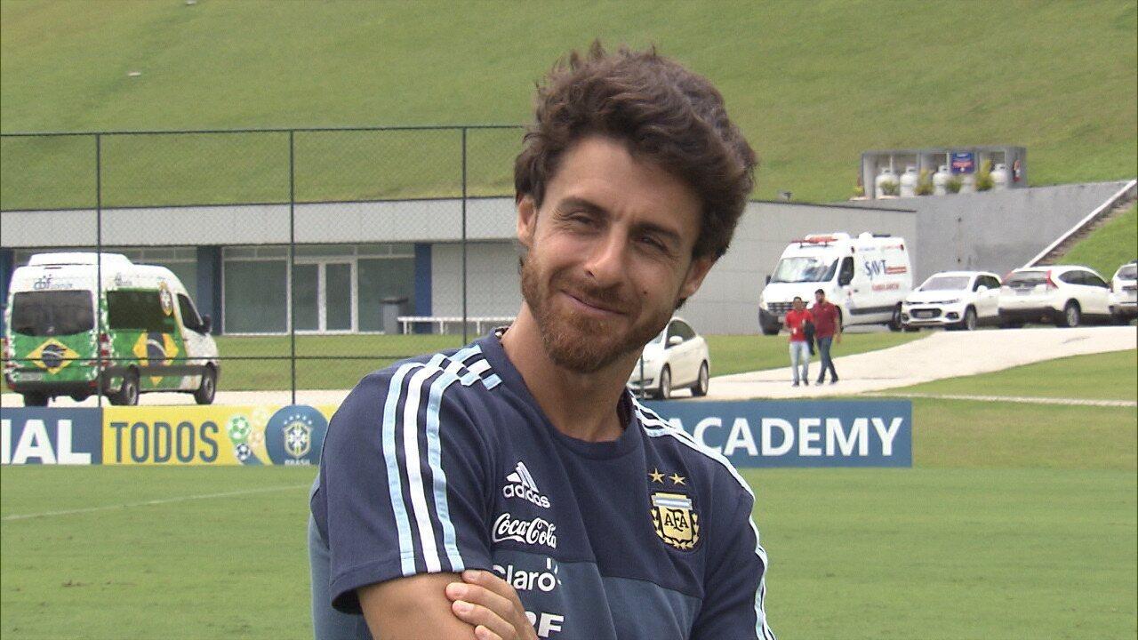 Pablo Aimar, técnico da seleção argentina sub-17, fala sobre final da Libertadores