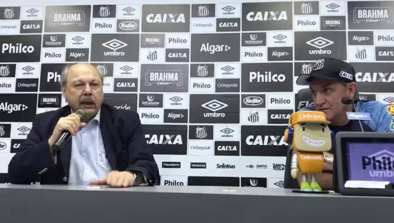 Presidente Peres e Cuca explicam saída do técnico do Santos