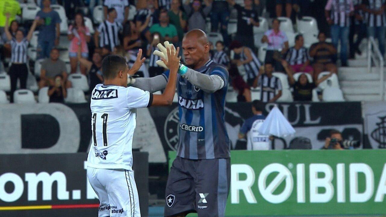 Os gols de Botafogo 2 x 1 Paraná pela 37ª rodada do Brasileirão