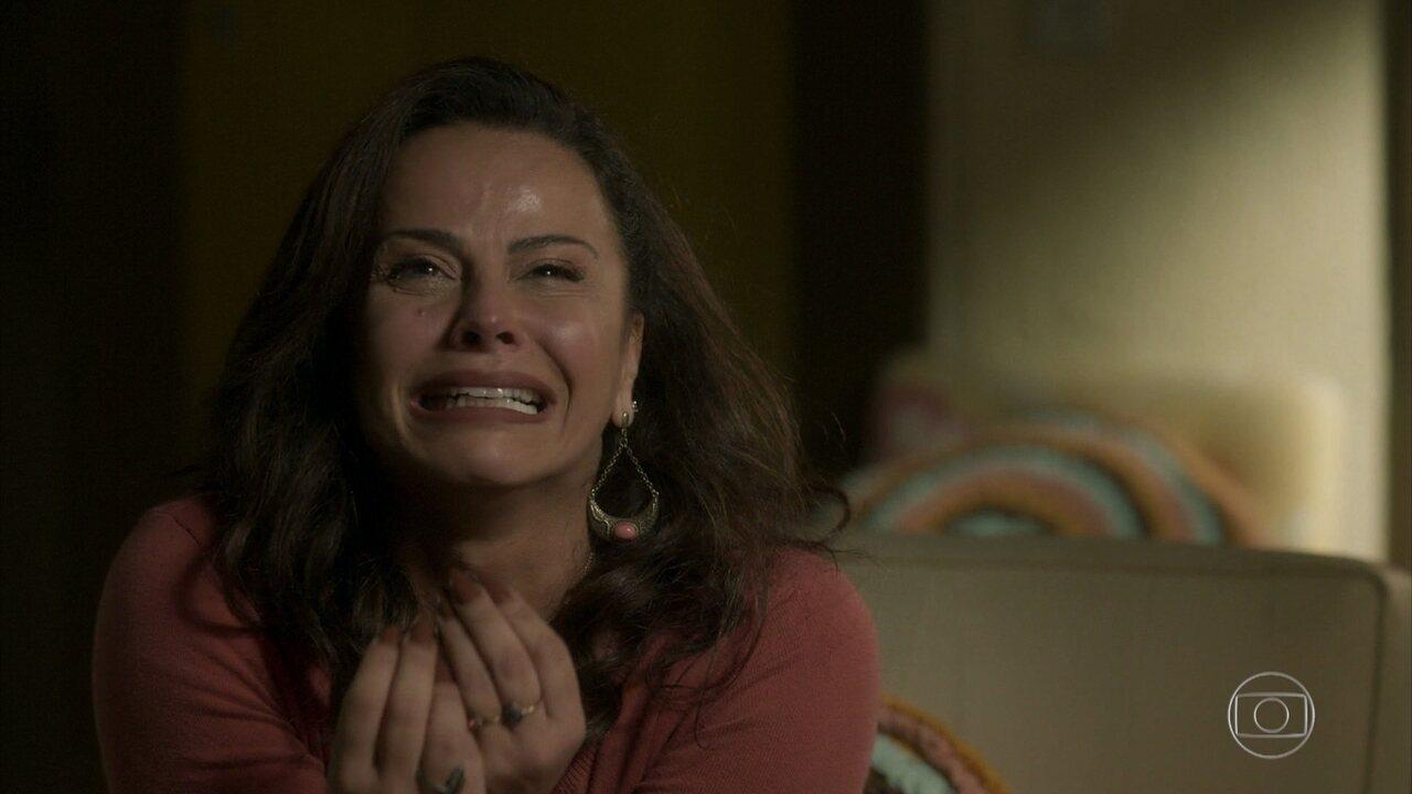Neide relembra o dia em que perdeu sua filha; Reveja cena de emoção de Viviane Araújo, em 'O Sétimo Guardião'