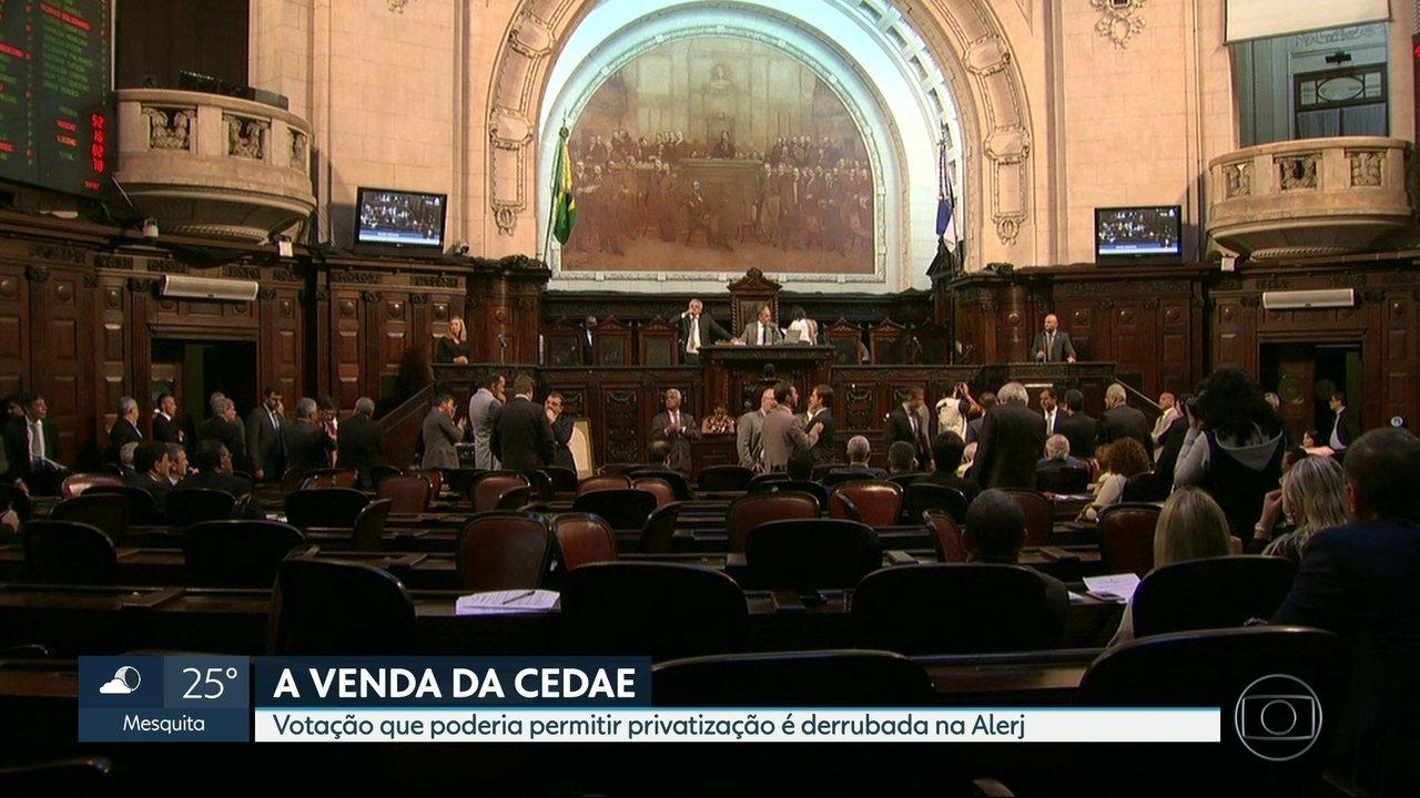 Votação que poderia permitir Cedae é suspensa na Alerj