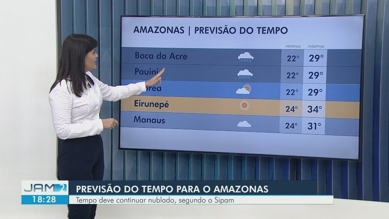 Manaus registra chuva forte; veja previsão do tempo para esta quinta (28) no Amazonas