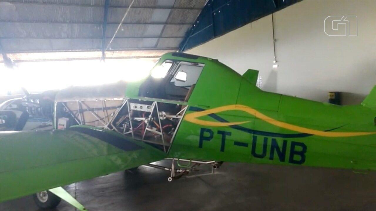 Ação voltada ao tráfico internacional apreende 6 aviões agrícolas em MS- PF/Divulgação